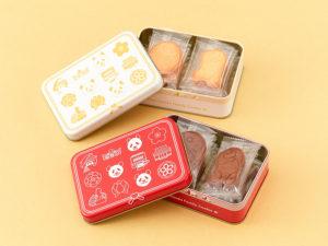 『上野パンダファミリー クッキー缶』(プレーン味/ココア味) 各 税込1,080円
